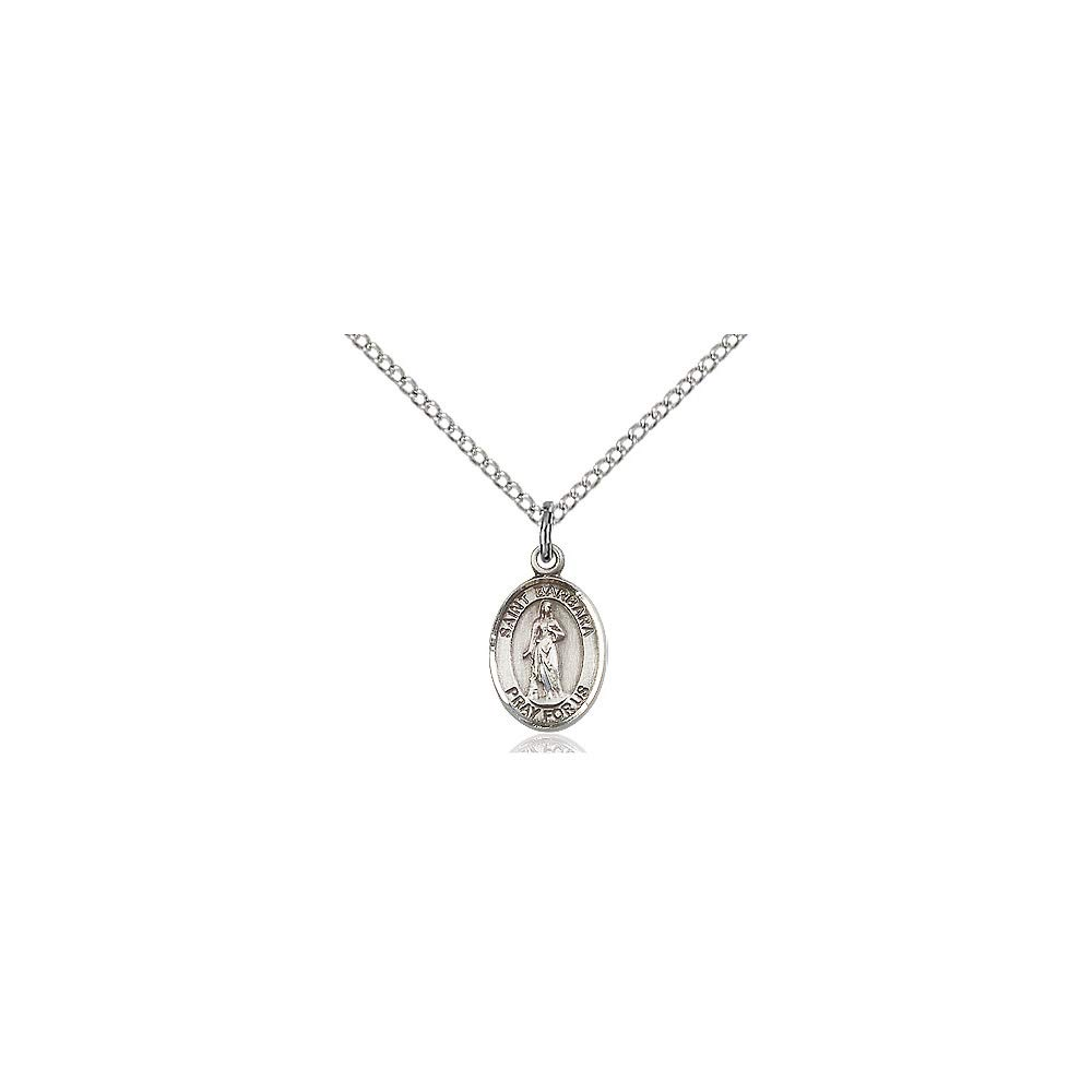 DiamondJewelryNY Sterling Silver St Barbara Pendant