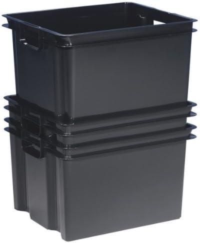 10 x 30 litros Allibert Hovac Vulcano Stack de nido geotees cajas de plástico para almacenamiento recipientes cajas - nuevo buena relación calidad cajas!: Amazon.es: Oficina y papelería