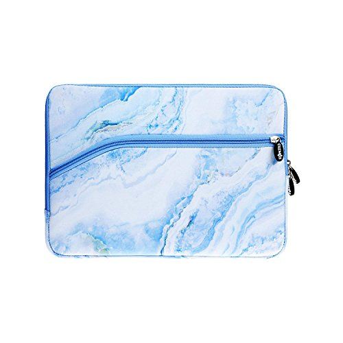 COSMOS Neoprene Protective Laptop Notebook Sleeve Case Bag for New MacBook Pro 13'' Model: A1706 & A1708 and New MacBook Air 13'' Model: A1932 (Light Blue Marble Pattern)
