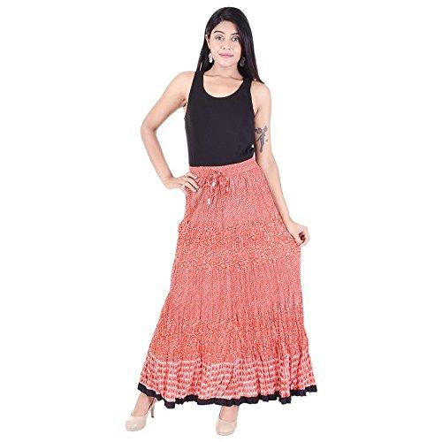 b423cab4d8 Desi Beats Women Full Length Printed Crinkle Elastic Skirt: Amazon.in:  Clothing & Accessories