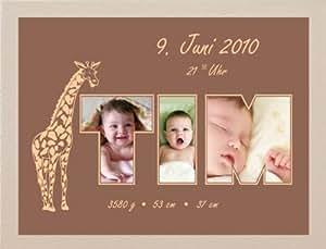 Grabado Alarma® fotos nacimiento 1208018x 24cm grabado personal datos