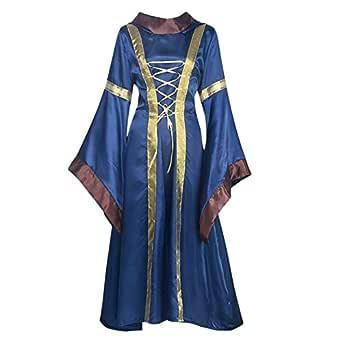 Spachy Vestido victoriano vintage para mujer, disfraz de Halloween ...