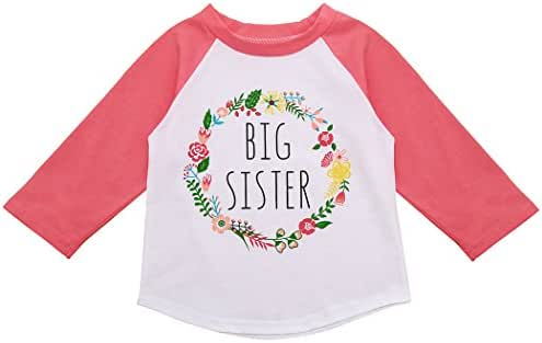 XWDA Girls Toddler Baby Long Sleeved Tops Tee Shirts Pajamas Cotton Floral Printing for Children
