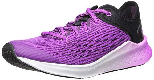 New Balance Kids' Fast V1 Fresh Foam Running Shoe, Black/Voltage Violet, 5 M US Big Kid (Girl Shoes Running)