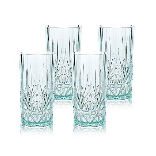 BELLAFORTE – Shatterproof Tritan Tall Tumbler Teal – 18oz, Set of 4, Myrtle Beach Drinking Glasses, Dishwasher Safe…