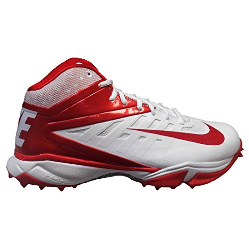 Nike Vapor Pro 3/4 Destroyer Molded Football Cleats (12.5, White/Game Red)