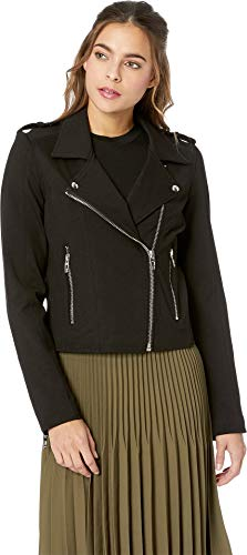 Blank NYC Women's Ponte Moto Jacket in Caviar Caviar Small