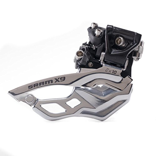 (SRAM X9 Bicycle Front Derailleur with 2 x 10 High-Clamp 382 Top Pull)