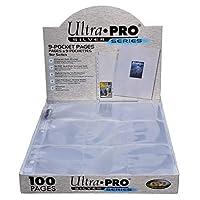 Páginas de la serie Ultra Pro 9-Pocket Silver para tarjetas comerciales de tamaño estándar