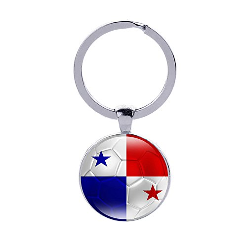 26235e9c064 2018 FIFA World Cup - The Republic of Panama National Flag Football Pattern  Keychain