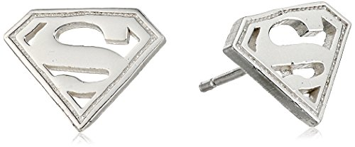 DC+Comics Products : DC Comics Sterling Silver Superman Logo Stud Earrings
