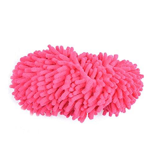 Gosear Fregona de Polvo Zapatillas Limpiar Zapatos / Limpiador de Piso Pulido de Cubierta para Baño Oficina Cocina,Verde Rose