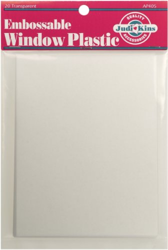 (Judikins Embossable Window Plastic Sheets, 4.25-Inch x 5.5-Inch, Clear, 20-Pack )