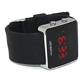 SODIAL(R) Espejo Lady de los hombres LED Digital Sport Neutral reloj del regalo - los colores negros: Amazon.es: Deportes y aire libre