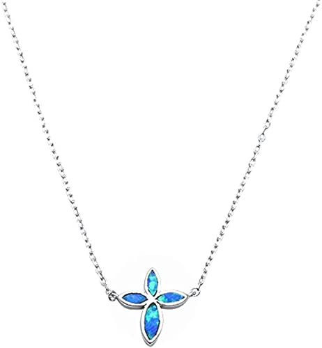 Oxford Diamond Co Lab Created Blue Opal Turtle .925 Sterling Silver Pendant