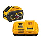 DEWALT DCB118X1 20/60V MAX FLEXVOLT Lithium-Ion 9.0Ah Battery Pack with Fan-Cooled Charger