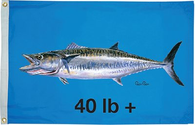 Taylor Made Products 1947 Carey Chen King Mackerel 40 Flag, 36 x 60-Inch