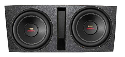 """Pyle PLPW12D 12"""" 3200 4-Ohm DVC Car Subwoofer Sub + Dual Ported Enclosure"""