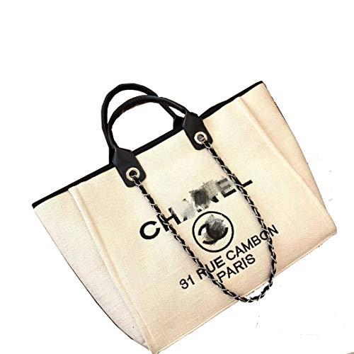 - HPASS Classic Handbag Designer Shoulder Bag Large Size Tote Bag for Women