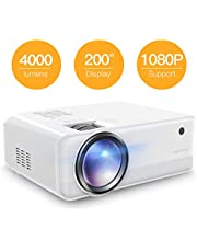 "Projector APEMAN Mini Portable Projector 4000 Lumen 1280*720P LED Projector 200"" LCD Home Cinema Projector Support 1080P HDMI/VGA/AV/USB/Micro SD/TV Stick for Home Entertainment[2019 New Model]"