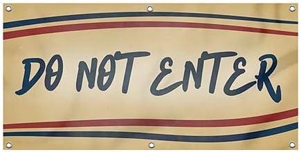 CGSignLab Nostalgia Stripes Heavy-Duty Outdoor Vinyl Banner 8x4 Do Not Enter