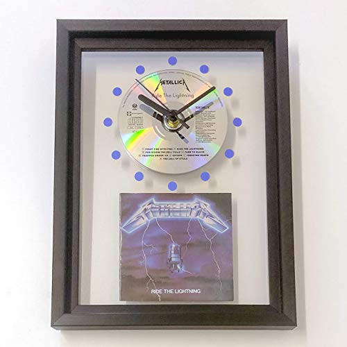 (METALLICA - Ride The Lightning: FRAMED CD WALL CLOCK/With Cover Art)