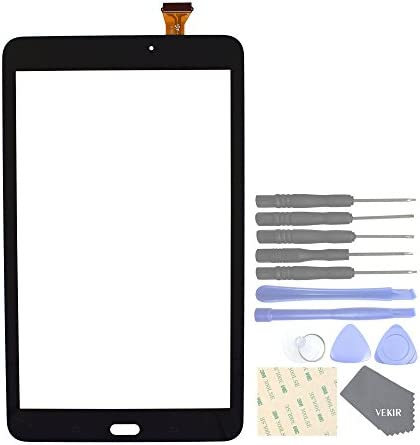 VEKIR Touch Repair Glass Screen for Samsung Galaxy Tab E 8.0 T377 SM-T377 T377A T377V T377P T377T(Black)