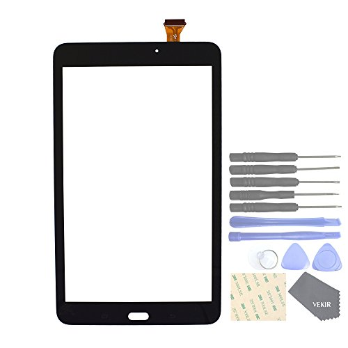 VEKIR Touch Repair Glass Screen for Samsung Galaxy Tab E 8.0 T377 SM-T377 T377A T377V T377P T377T(Black)
