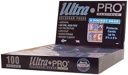 "30 x Ultra PRO 6 Pocket Tall Binder Album Folder Pages Platinum 2-1//2/"" x 5-1//4/"""