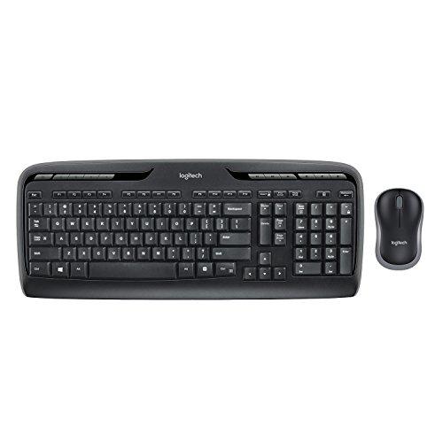 Logitech MK330 Wireless Combo Keyboard and Mouse, USB, Long Battery Life,...