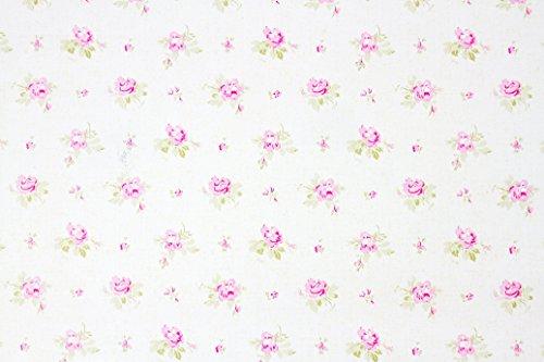 Weiß Rose Shabby Chic Floral Sticky Back Kunststoff PVC Film Vinyl ...