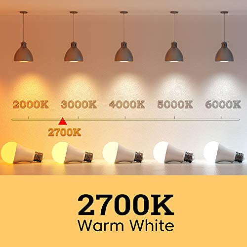 Linkind Non-Dimmable A19 LED Light Bulbs, 14W(100 Watt Equivalent), 2700K (Soft White), 1600 Lumens, E26 Base, UL Listed, Standard Replacement, Pack of 6