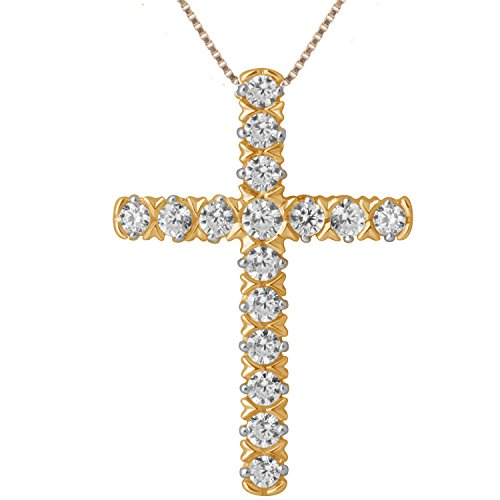 1/4 Ct Diamond Cross Pendant (1/4ct Diamond Cross Pendant in 10K Yellow Gold)