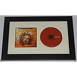 Lauryn Hill The Miseducation of Lauryn Hill Hand Signed Autographed Music Cd Cover Compact Disc Custom Framed Loa