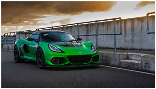Lotus Exige Cup 430 (2018) Car Art Poster Print on 10 mil Archival Satin Paper Green Front Side Static View (11