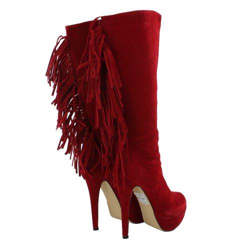 Footwear Sensation - Botas para mujer rojo - rojo