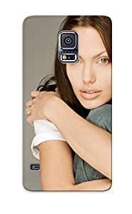 Anti-scratch And Shatterproof Angelina Jolie In Jeans Phone Case For Galaxy S5/ High Quality Tpu Case