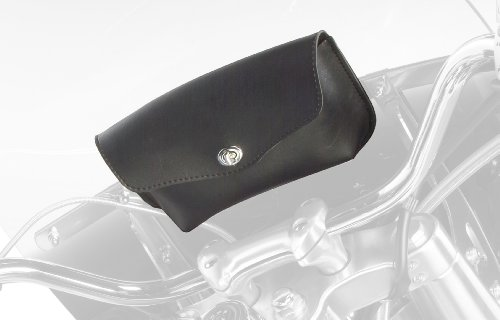 9513-00 Revolution Series: Synthetic Leather Motorcycle Windshield Bag, Black, Universal Fit ()