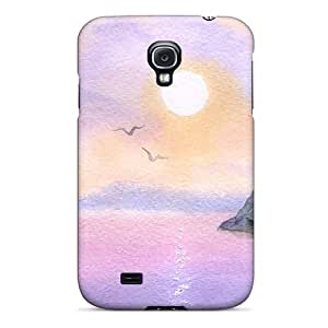 Sanp On Case Cover Protector For Galaxy S4 (watercolor Sail)