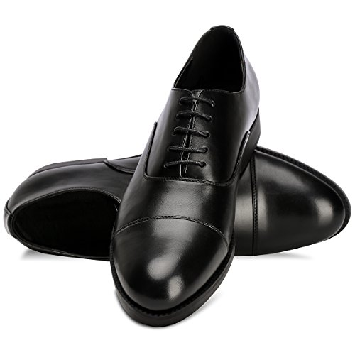 Men's Dress Shoes FormalLeather Oxfords Lace up Black 10.5 by GOLAIMAN (Image #7)