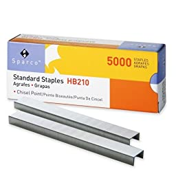 Wholesale CASE of 25 - Sparco Chisel Point Standard Staples-Standard Staples,Chisel Pt,1/2\