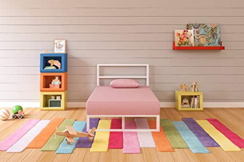 Ashley Furniture Signature Design - iKidz Children's Mattress and Pillow Set - Kids Bed in a Box - Twin - Pink