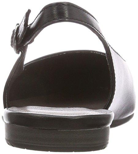 Tamaris 29407, Sandalias de Talón Abierto Para Mujer Negro (Black 001)