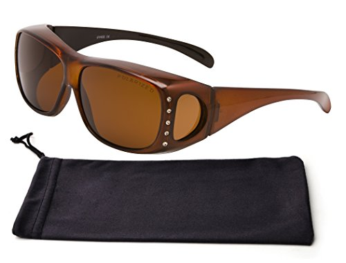 Best Unique Brown Frame Amber Tinted Lens Blackout Fitover Fashion Sports Athletic Driving Beach Fishing Surfing Sunglasses Clearance Gift Idea Under 30 Dollars for Her (Brown - Sunglasses Athletic Best