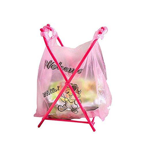 Soporte para bolsas de basura, plegable, práctico y sencillo ...