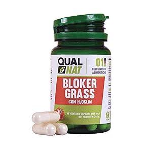 Captagrasas Bloker Grass - Capta grasas para el control de peso de manera natural - Complemento alimenticio para adelgazar si se acompaña de una dieta saludable - 30 cápsulas 24
