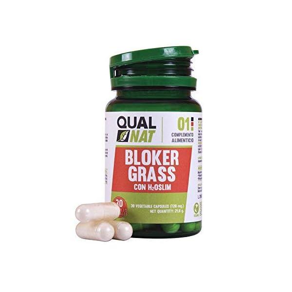 Captagrasas Bloker Grass - Capta grasas para el control de peso de manera natural - Complemento alimenticio para adelgazar si se acompaña de una dieta saludable - 30 cápsulas 2