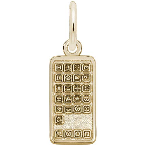Rembrandt Charms, Smartphone Cell Phone, 14K Yellow Gold