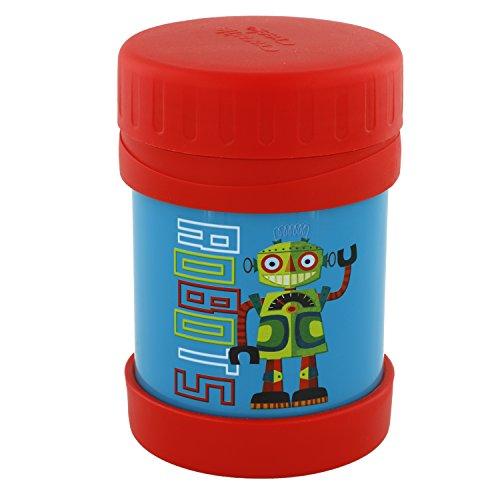 UPC 732396105518, Crocodile Creek Kids Eco Robot Insulated Stainless Steel Food Jar, Blue, 11.5 oz