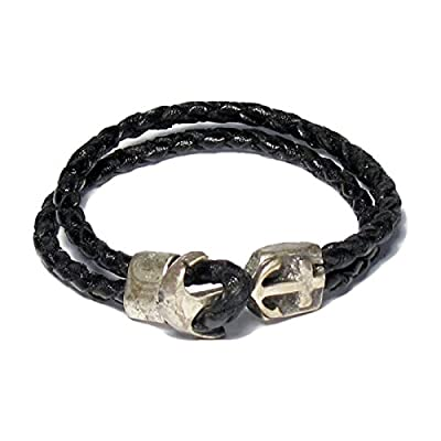 AUTHENTIC HANDMADE Leather Bracelet, Men Women Wristbands Braided Bangle Craft Multi [SKU003041]